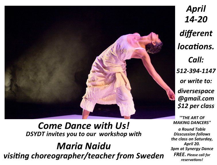 A Workshop With Maria Naidu For Sweden Diverse Space Dance